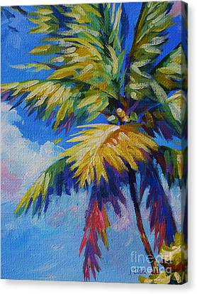 Bright Palm Canvas Print by John Clark