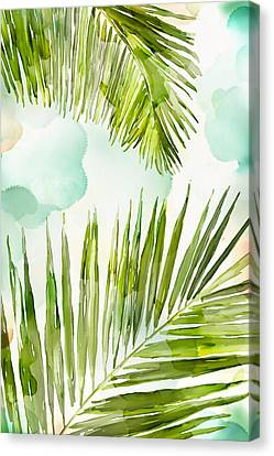Bright Palm Canvas Print by Mauro DeVereaux