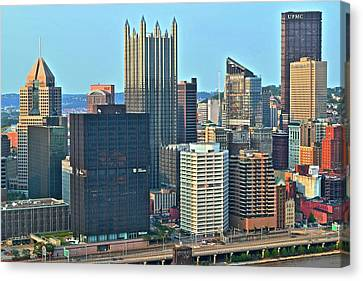 Bright Pittsburgh Day Canvas Print by Frozen in Time Fine Art Photography