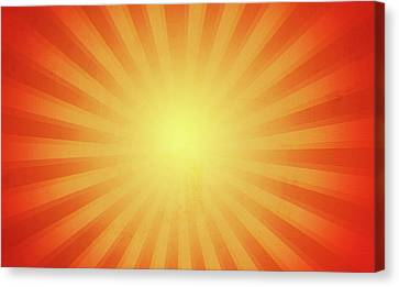 Sun Rays Canvas Print - Bright Rays by Les Cunliffe