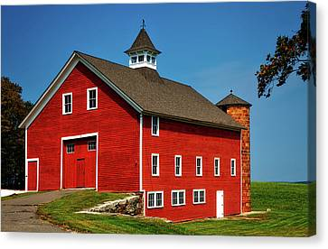 Bright Red Barn In Connecticut Canvas Print