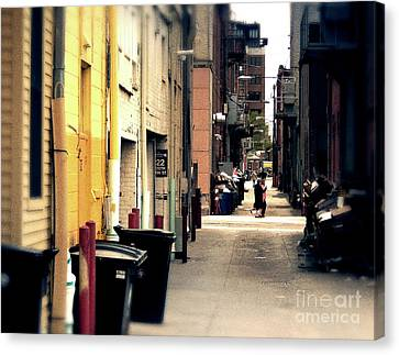 Bright Side Of The Alley Canvas Print by Phil Perkins