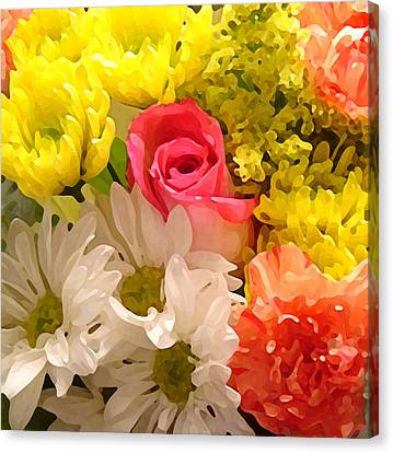 Bright Spring Flowers Canvas Print by Amy Vangsgard
