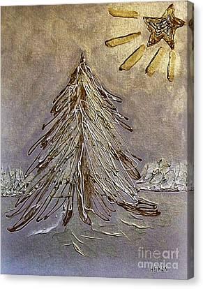 Bright Star At Night Canvas Print by Marsha Heiken