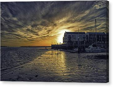 Nature Scene Canvas Print - Brightlingsea Harbour by Martin Newman