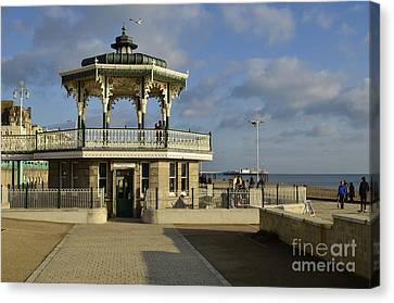 Brighton Bandstand Canvas Print by Nichola Denny
