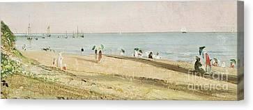 Brighton Beach   Detail Canvas Print
