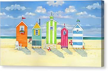 Brighton Beach Huts Canvas Print