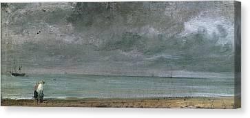 Constable Canvas Print - Brighton Beach by John Constable