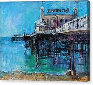 Brighton Pier Canvas Print by Sylvia Paul
