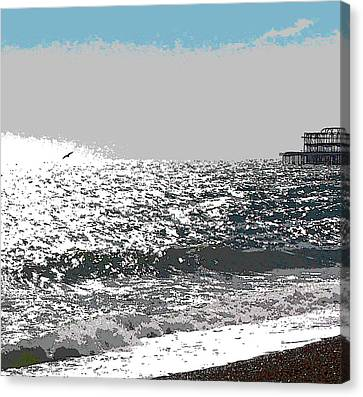 Brighton West Peer Canvas Print