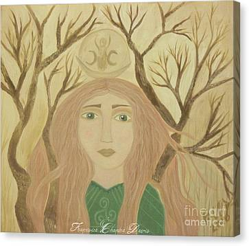 Love Canvas Print - Brigid Celtic Goddess by Sacred  Muse