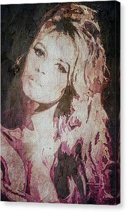 1960 Movies Canvas Print - Brigitte Bardot by Absinthe Art By Michelle LeAnn Scott