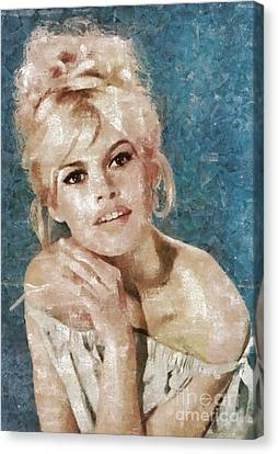 Brigitte Bardot, Actress Canvas Print by Mary Bassett