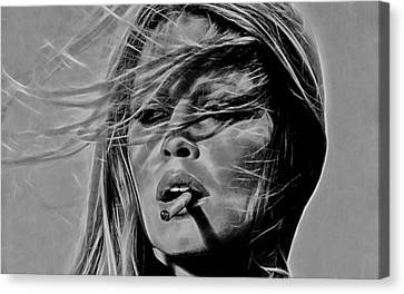 Brigitte Bardot Collection Canvas Print by Marvin Blaine