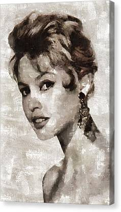 Brigitte Bardot Hollywood Actress Canvas Print by Mary Bassett