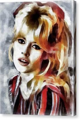 Brigitte Bardot Canvas Print by Sergey Lukashin