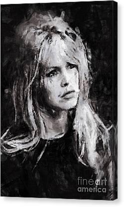 Brigitte Bardot Canvas Print by Stefan Olivier