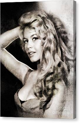 Brigitte Bardot, Vintage Actress Canvas Print by John Springfield