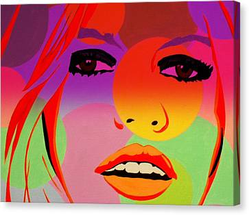Brigitte Bardot ... Young  Canvas Print by Funkpix Photo Hunter