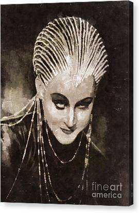 Brigitte Helm In Metropolis By Mary Bassett Canvas Print by Mary Bassett