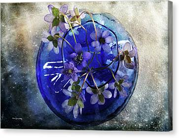 Brilliant Blue Canvas Print by Randi Grace Nilsberg