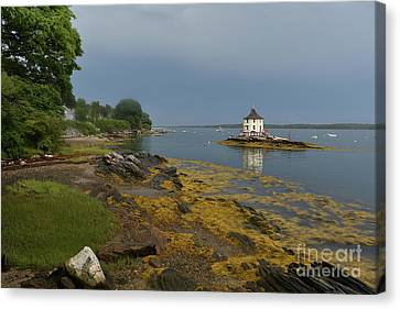 Brilliant Colors Surrounding The Nubble In Casco Bay Canvas Print by DejaVu Designs