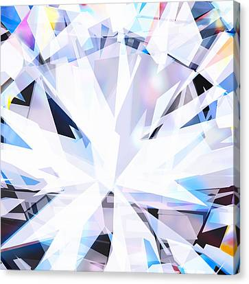 Solid Canvas Print - Brilliant Diamond  by Setsiri Silapasuwanchai