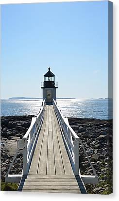 New England Lighthouse Canvas Print - Brilliant Light by Corinne Rhode