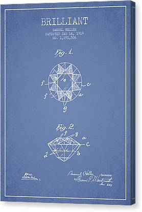 Brilliant Patent From 1919 - Light Blue Canvas Print by Aged Pixel
