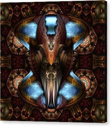 Brimitin Warrior Blue Destiny Canvas Print