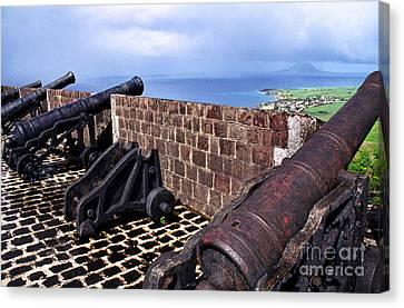 Brimstone Hill Fortress Canons Canvas Print by Thomas R Fletcher