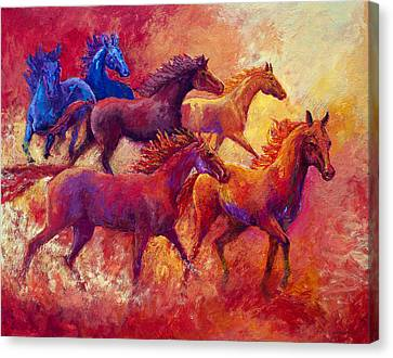 Bring The Mares Home Canvas Print by Marion Rose