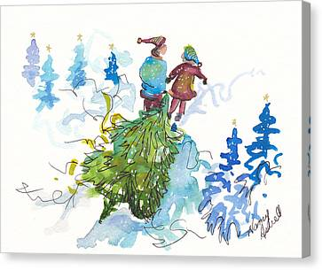 Bringing Christmas Home Again Canvas Print by Michele Hollister - for Nancy Asbell