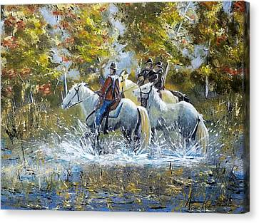 Bringing Home The Mare Canvas Print by Anderson R Moore