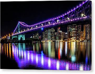 Bris Vegas Canvas Print by Az Jackson