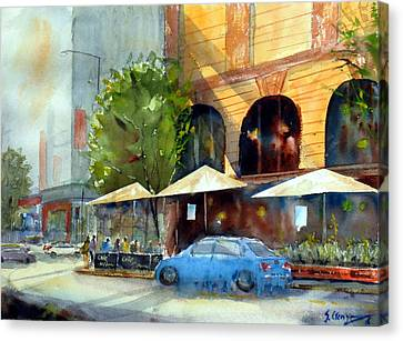 Brisbane Cafe Canvas Print