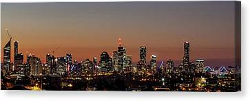 Brisbane City Skyline Canvas Print by Az Jackson