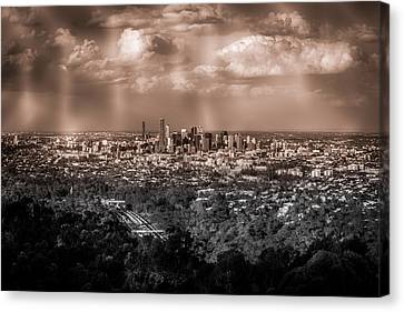 Brisbane Cityscape From Mount Cootha #4 Canvas Print by Stanislav Kaplunov