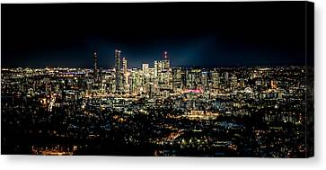 Brisbane Cityscape From Mount Cootha #7 Canvas Print by Stanislav Kaplunov