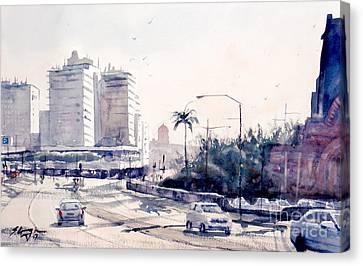 Brisbane Cityscape Canvas Print by Sof Georgiou