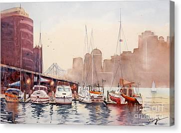 Brisbane River From Gardens Point Canvas Print