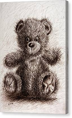 Bristle Bear Canvas Print by Liza Gonen