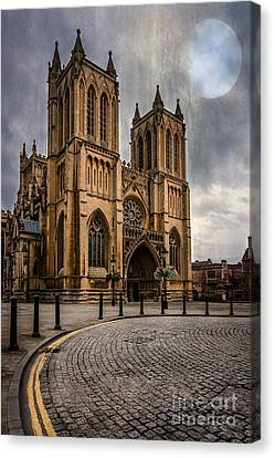 Bristol Cathedral Canvas Print by Adrian Evans
