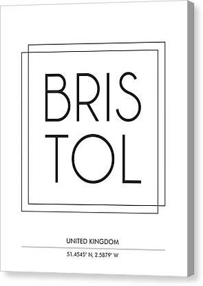 Bristol City Print With Coordinates Canvas Print