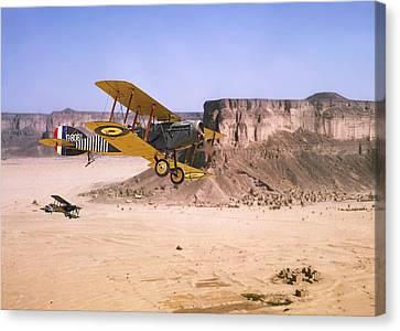 Canvas Print featuring the photograph Bristol Fighter - Aden Protectorate  by Pat Speirs