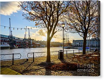Canvas Print featuring the photograph Bristol Harbour by Colin Rayner