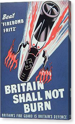 Britain Shall Not Burn Canvas Print by English School