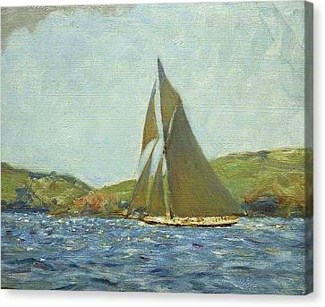 Canvas Print featuring the painting Britannia by Henry Scott Tuke