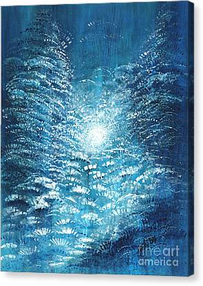 Canvas Print featuring the painting Brite Nite by Holly Carmichael